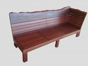Outdoor jarrah day bed