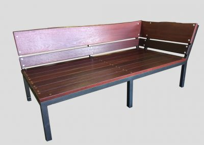 Day Bed with a welded steel powdercoated base and framework
