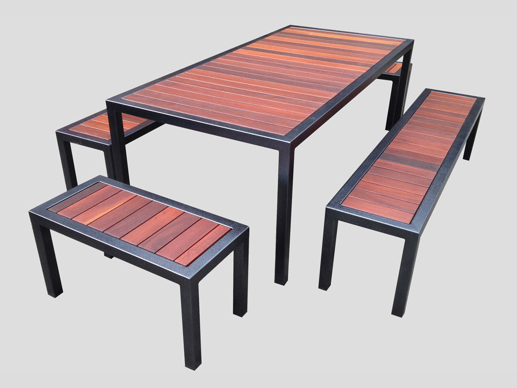 outdoor tables and settings