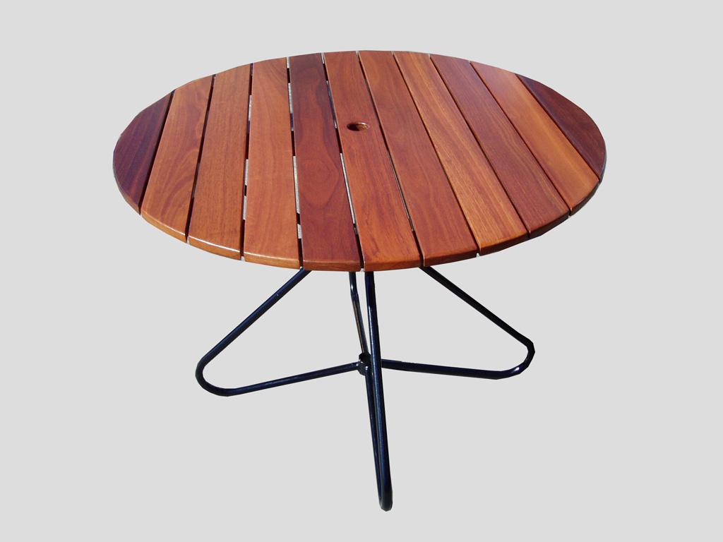 Round Jarrah Table Top