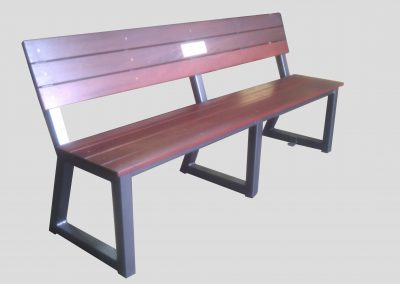 Memorial Bench jarrah slats