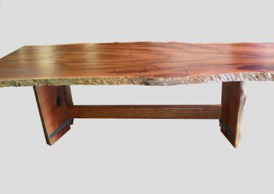 Jarrah slab dining table 2