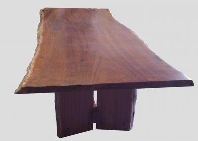 Jarrah slab dining table 4