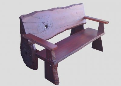 Bench all timber rustic seat