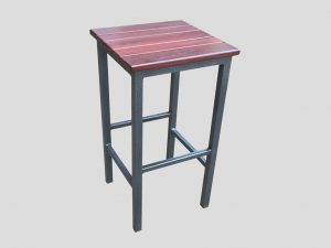 outdoor stool steel and jarrah