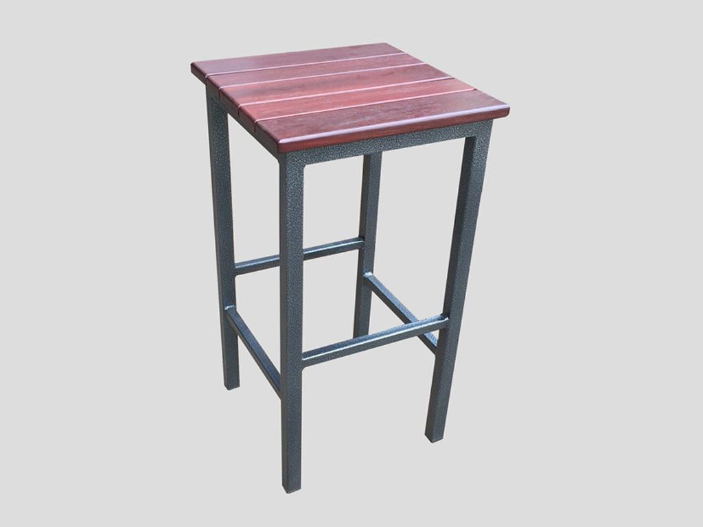 outdoor stool steel and jarrah