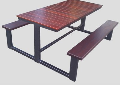 3T Table with 40mm thick jarrah seat