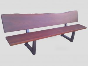 bench seat natural edge jarrah