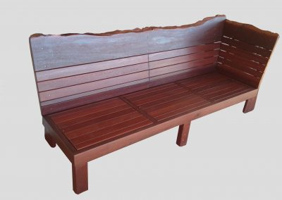 Day Bed , heavy duty with  natural edge back and side rest