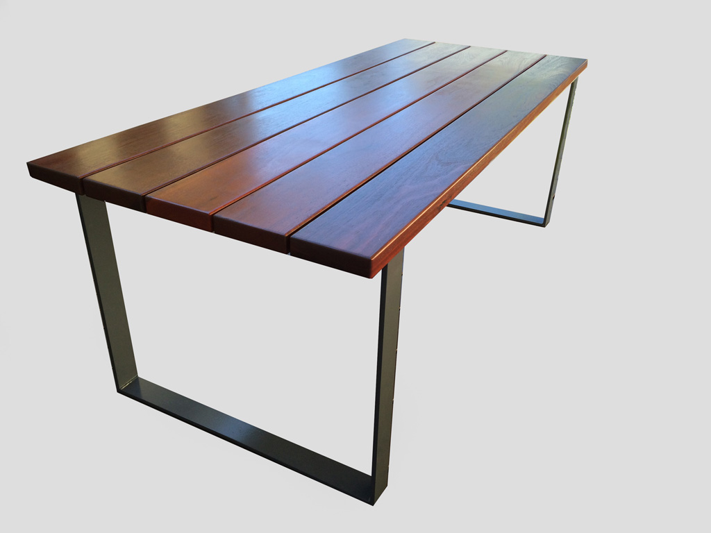Jarrah Table Open Square Legs