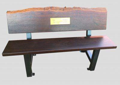 Memorial bench natural edge