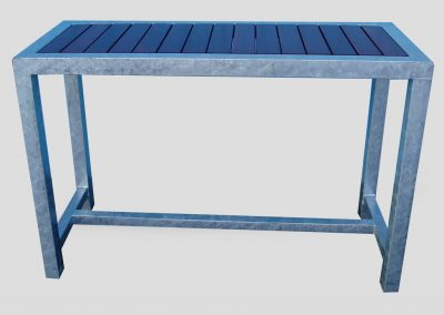 Bar Recessed Top Galv Frame