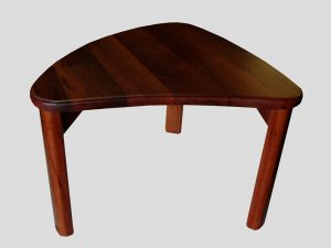 coffee table rounded triangle in jarrah in jarrah custom indoor furniture