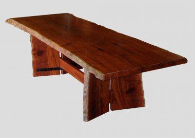 Jarrah slab dining table