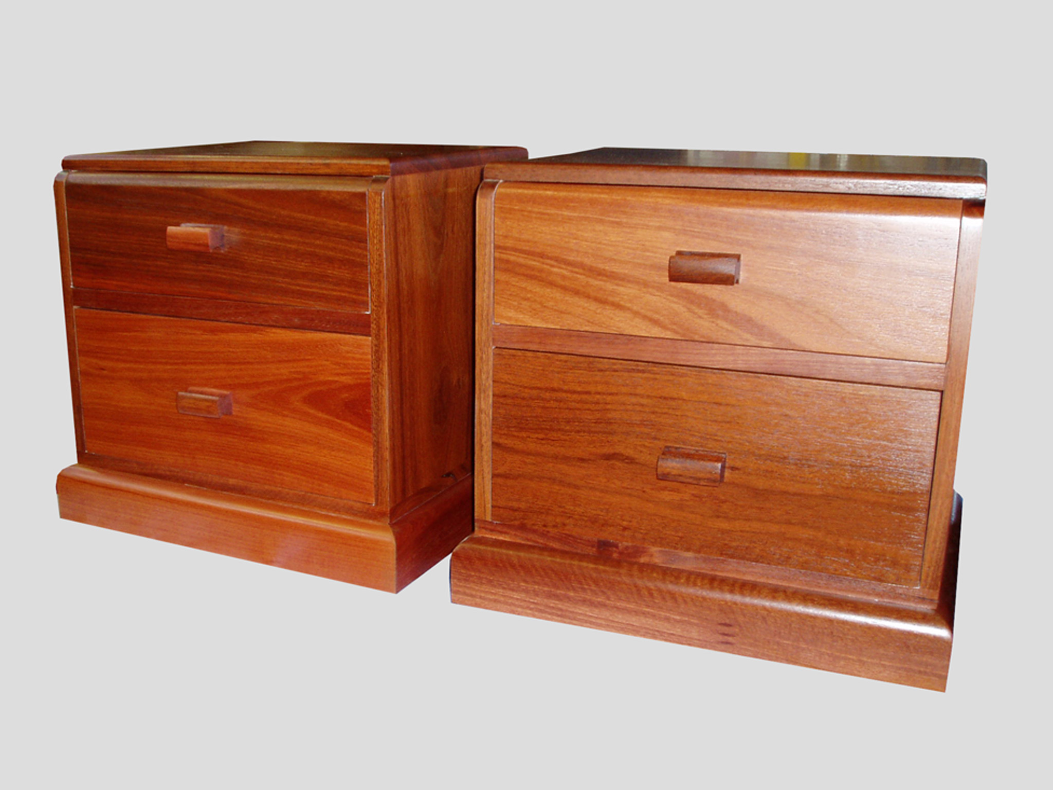 interior bedside drawers jarrah wood