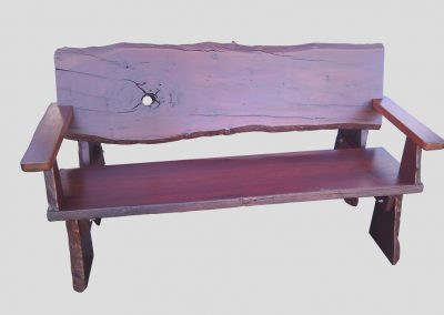 Bench all timber rustic