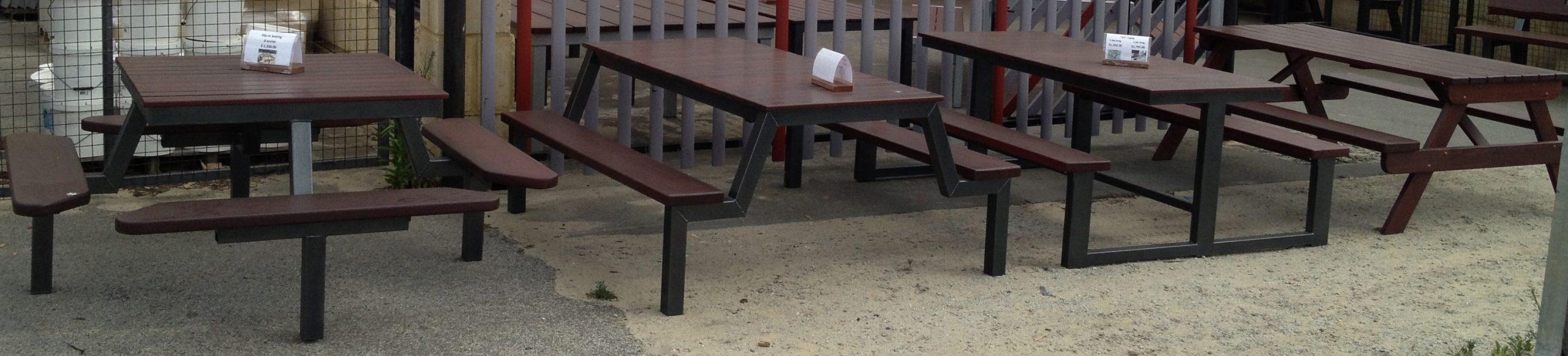 TimberSteel Furniture outdoor tables